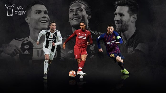 UEFA တစ္ႏွစ္တာအေကာင္းဆုံးကစားသမားဆု ဆန္ခါတင္သုံးဦးစာရင္းတြင္ စီ႐ိုနယ္ဒို၊ ဗန္ဒစ္ႏွင့္ မက္ဆီတို႔ မဲေပး ေ႐ြးခ်ယ္ခံရ